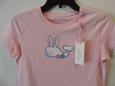 Vineyard Vines Girls Pink Bunny Whale S/S T Shirt SZ L 14 NWT Quick Shipping #vineyardvines