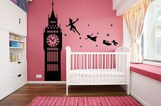 vinyl wall decal sticker dorm Peter Pan Never Land Kids Children Story a52