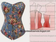 Motif Corset, Corset Sewing Pattern, Dress Sewing Patterns, Clothing Patterns, Fashion Sewing, Diy Fashion, Ideias Fashion, Fashion Tips, Diy Clothing