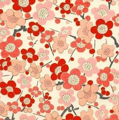 Chiyogami or yuzen paper  fresh blossoms in by pebblestonepapery, $2.80