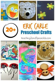 Celebrate children's author Eric Carle with these fun preschool activities that go with his popular books! #artprojects