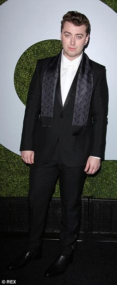 On song: Rising singers Sam Smith and Charlie XCX were also pictured at the magazine's bas...