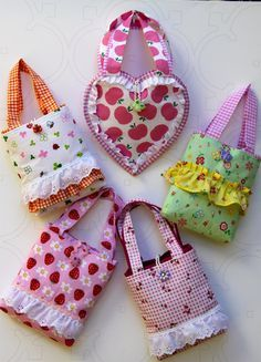 Girls hand bags in various fabrics and styles by ALollyCreation, $18.00