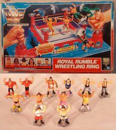 World Wrestling Federation Royal Rumble Ring Wwf Hasbro, Wrestling Superstars, Hulk Hogan, Royal Rumble, Throwback Thursday, The Rock, Wwe, Childhood, Cold