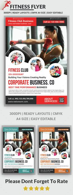 Fitness Flyer Template PSD. Download here: http://graphicriver.net/item/fitness-flyer/14617364?ref=ksioks