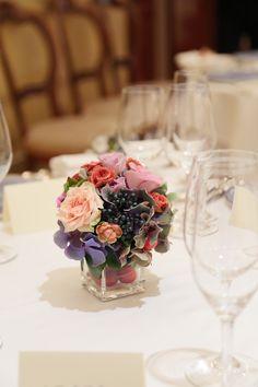 秋の装花 リストランテASO様へ バラと実り