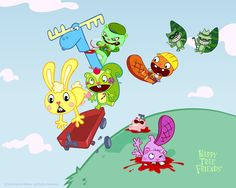 Wallpaper of Happy Tree Friends for fans of Happy Tree Friends 175508 Happy Tree Friends Flippy, Happy Friends, Htf Anime, Flash Animation, Free Friends, Saturday Morning Cartoons, Anime Version, Widescreen Wallpaper, Wallpapers