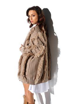 Fur Coat, Satin, Elegant, Jackets, Products, Fashion, Tricot, Camel, Tunic