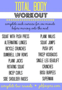 Total Body Workout from @Peanut Butter Fingers #FitFluential #MOVE