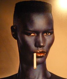 Grace Jones--I love that she and Dolph Lundgren had a psycho love affair.