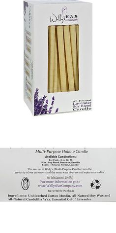 Ear Plugs: Wallys Natural Products Candles -Soy Blend Lavender - Case Of 75 BUY IT NOW ONLY: $133.39