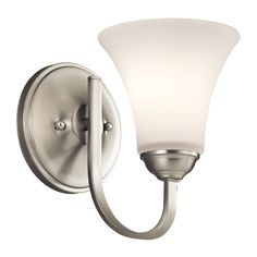 Keiran 1 Light Wall Sconce - Brushed Nickel