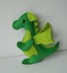 homemade stuffed animals   homemade stuffed animals / miniature felt dragon by Treacher Creatures ...