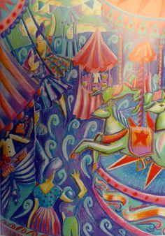 Ilustración pastel original de ópera por Anna por Thestitchintime
