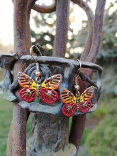 Butterfly Earrings, Washer Necklace, Jewelry, Jewlery, Jewerly, Schmuck, Jewels, Jewelery, Fine Jewelry