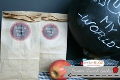 Printable Lunch Bags - Todays Creative Blog