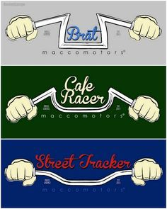 www.motorcyclemai... has some info on the various types of motorcycle handlebars.