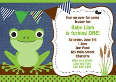 Leap year birthday invitation Frog Birthday Party Invitation Frog first Birthday Invitation Leap Year Birthday, Frog Birthday Party, 1st Birthday Parties, 4th Birthday, Birthday Ideas, Leap Year Babies, Frog Theme, Girl Cupcakes, First Birthday Invitations