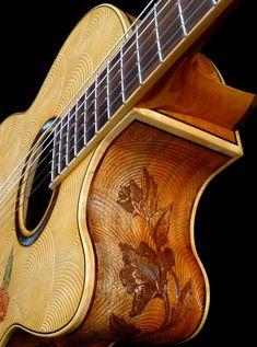 "Blueberry ""Floral"" Motif Classical Guitar"