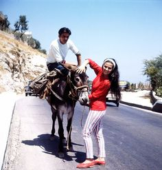 Claudia Cardinale and Alain Delon in Italy, 1963.
