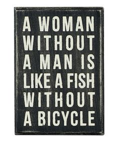 Another great find on #zulily! 'A Woman Without' Box Sign by Primitives by Kathy #zulilyfinds