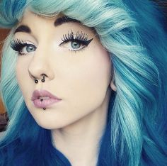 She would look better without the piercings, but I like her hair!
