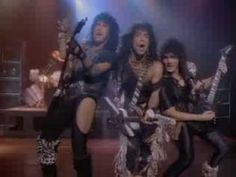 Kiss - Heaven's On Fire. Kiss, as a rule, sucks; but this song has a bad ass beat to it. Kiss Music, My Music, Heavy Metal, Heavens On Fire, Hair Metal Bands, Jeans Azul, 80s Songs, Rock Videos, Love Songs Lyrics