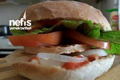 Dev Hamburger Sandwiches, Ethnic Recipes, Food, Essen, Meals, Paninis, Yemek, Eten