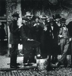 Dada meeting at Weimar, Sept. 1922 -(left to right) Kurt Schwitters, Jean Arp, Max Burchartz, Lotte Burchartz, Hans Richter, Nelly van Doesburg, Cornelius van Eesheren, Theo van Doesburg