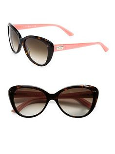 Kate Spade New York Angelique Two-Tone Plastic Cat's-Eye Sunglasses