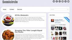 Semicircle Blogger Template Blogspot