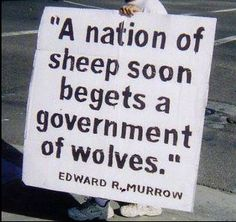 Don't follow the wrong shepherd off a cliff! #sheeple