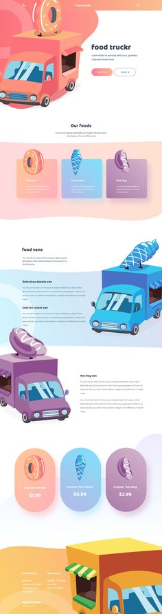 Fun and playful website theme with bright colors and organic shapes