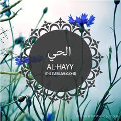 Al-Hayyu ~ The Ever Living (beautiful attributes of Allah - The Ever Living One) Listen To Quran, Learn Quran, Hadith, Alhamdulillah, Asma Allah, Quran Pdf, Quran Arabic, Islam Religion, Islam Beliefs