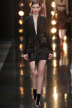 Fringe effects + sophisticated gladiators. Alexandre Vauthier Spring 2014 Couture Collection Slideshow on Style.com
