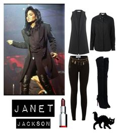 """""""janet jackson"""" by sequayah-chaney on Polyvore featuring Aquazzura, Miss Selfridge, Alexander Wang and Moschino"""