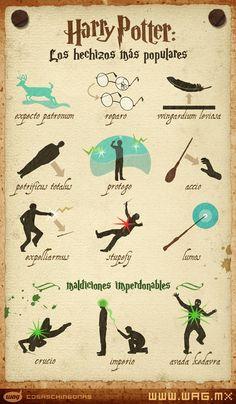 Los hechizos más populares de Harry Potter
