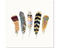 Feather Art. Archival Quality Print of my door SnoogsAndWilde