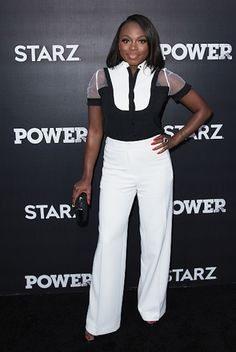 Naturi Naughton got glam in black and white at the For Your Consideration Event for STARZ's Power.