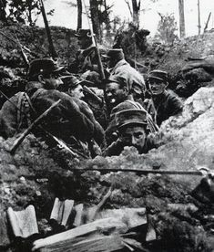 French soldiers at the Battle of the Lys, 1918