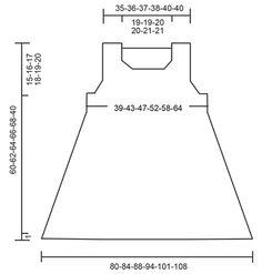 """Venezia Top / DROPS 168-33 - Débardeur DROPS avec point ajouré sur les côtés, forme trapèze, tricoté de haut en bas, en """"Belle"""". Du S au XXXL. - Free pattern by DROPS Design"""