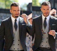 Hair And Beard Styles, David Beckham, Winter Looks, Haircuts For Men, Wedding Suits, Love, Victoria Beckham, Role Models, Groomsmen