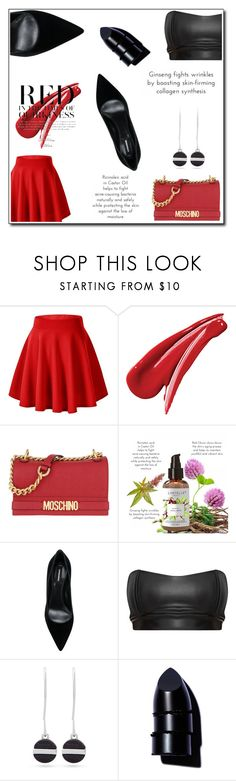 """Dinner Date"" by lupa-di-bella1 ❤ liked on Polyvore featuring Moschino, Dsquared2, Nine West and Anastasia Beverly Hills"