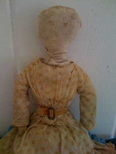 19Th C Cloth Doll found N.E...