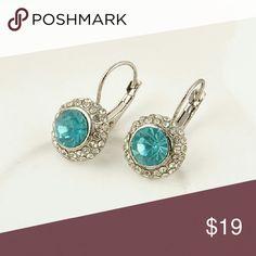 Light Blue Austrian Crystal Earrings Light Blue Austrian Crystal Earrings Jewelry Earrings