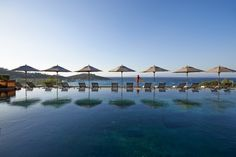 Located within the port city named Bodrum in Turkey, this exceptional Mandarin Oriental hotel tempts with breathtaking views of the Aegean Sea and with Hotel Swimming Pool, Hotel Pool, Hotels And Resorts, Best Hotels, Hotels In Turkey, Mandarin Oriental, Luxury Spa, Amazing Destinations, Swimming Pools