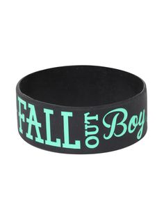 Fall Out Boy Anchor Rubber Bracelet | Hot Topic