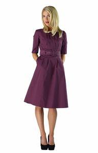 """""""Madeline"""" Modest Dress in Plum"""