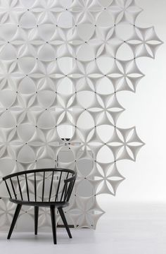 Fiber felt sound absorbing screen and bookcase: AIRFLAKE by Abstracta , design by Stefan Borselius Module Design, Interior Walls, Interior Design, Acoustic Wall Panels, Space Dividers, Divider Screen, Sound Absorbing, 3d Wall Panels, Wall Finishes