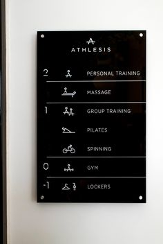 S & Team - Athlesis signage Hotel Signage, Office Signage, Environmental Graphics, Environmental Design, Branding, Directory Signs, Wayfinding Signs, Sign System, Gym Logo